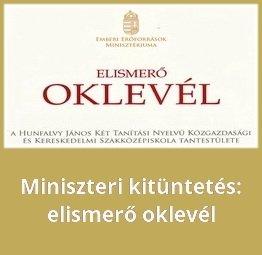 miniszteri oklevél